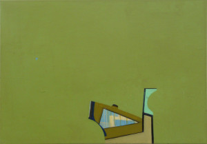 blue dot (2009) Acryl und Sprühlack auf Leinwand