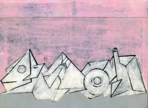 trinker III (2009) Ölfarbe und Marker über Druck auf Papier